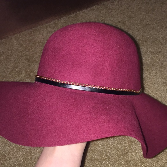 Kardashian Kollection Accessories - Kardashian Kollection Burgundy Wine Red  Floppy Hat 6796dea8076